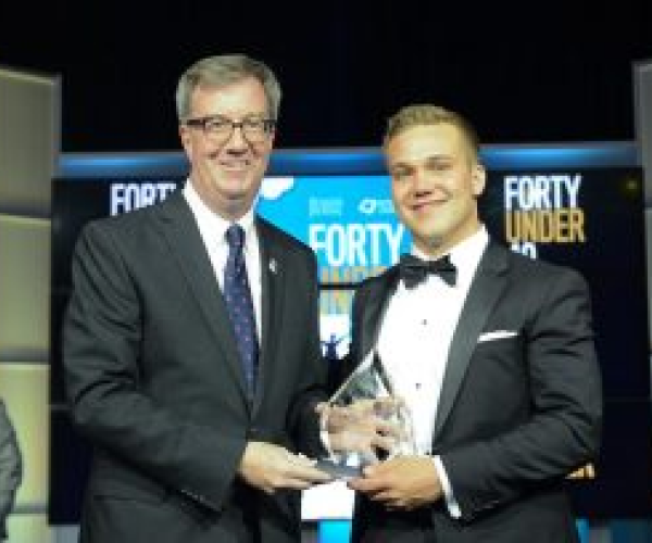Jeff W Clark and Jim Watson at 40 under 40 award