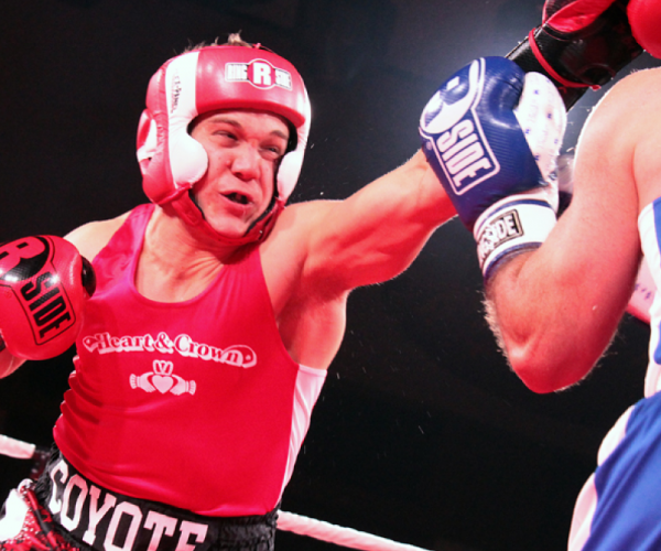 Jeffery W. Clarke in a charity boxing match